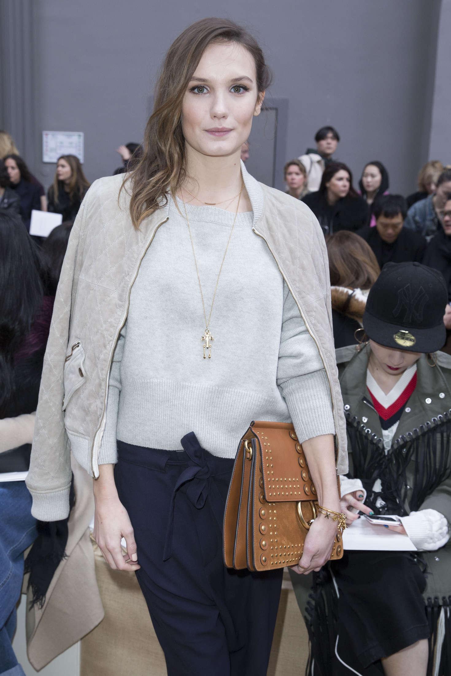 Ana Girardot Chloe Fashion Show in Paris