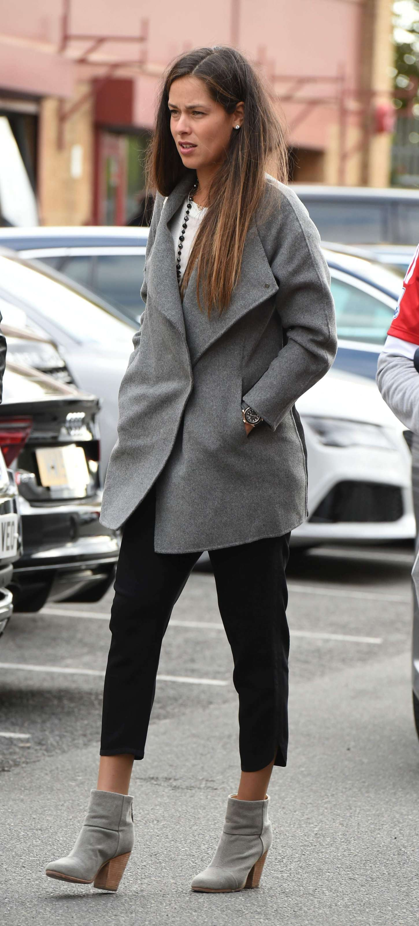 Ana Ivanovic Arriving at Old Trafford in Manchester