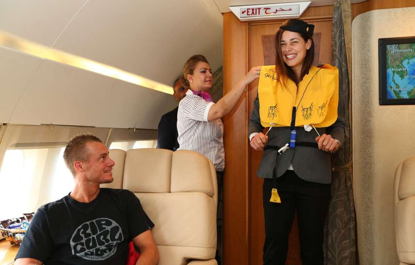 Ana Ivanovic at Flug von Manila nach Singapur