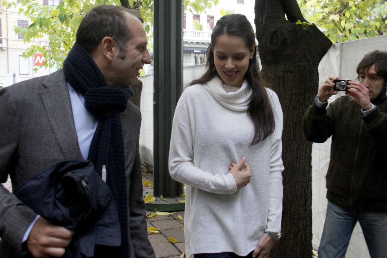 Ana Ivanovic Candids in Milan