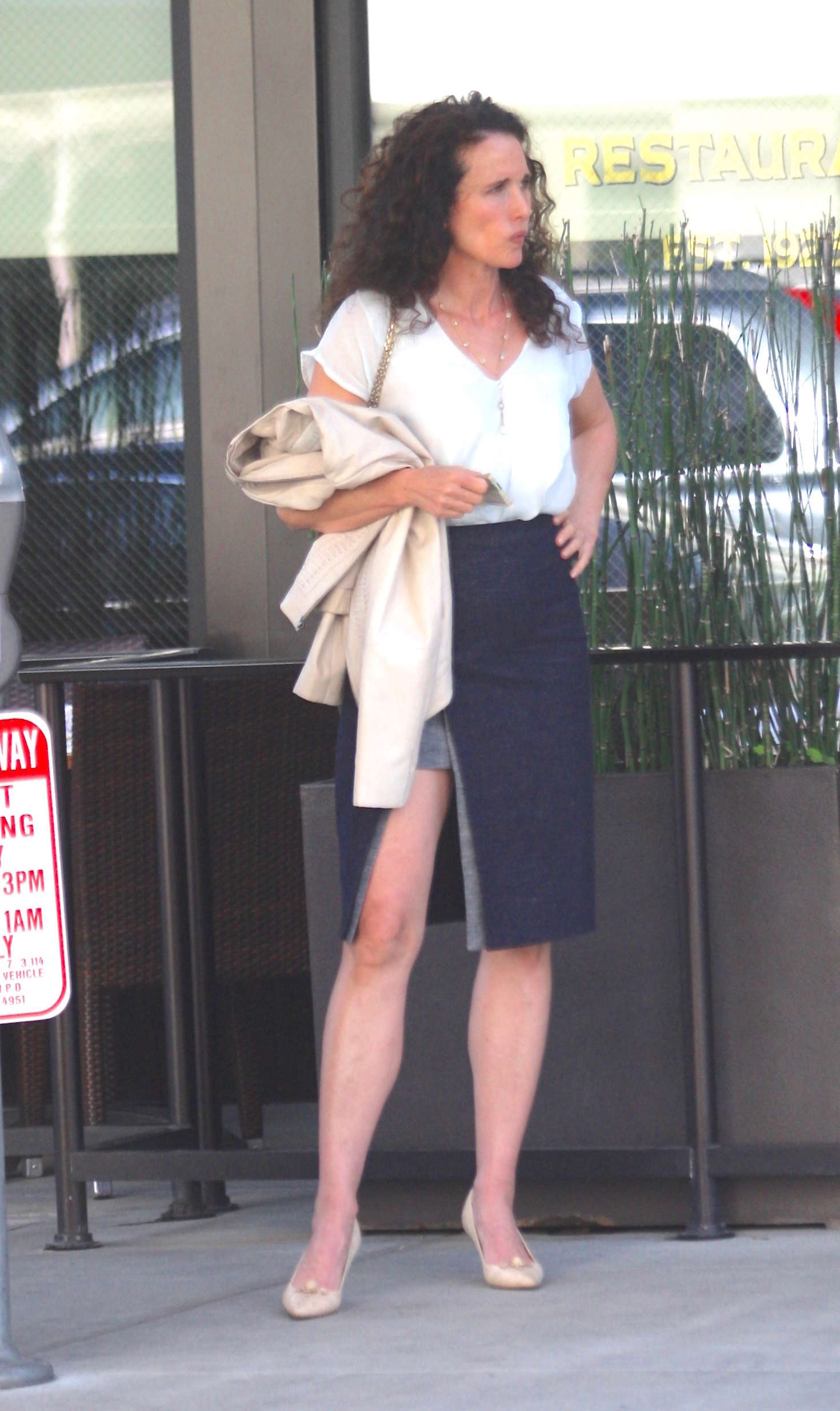 Andie MacDowell at The Palm in Beverly Hills