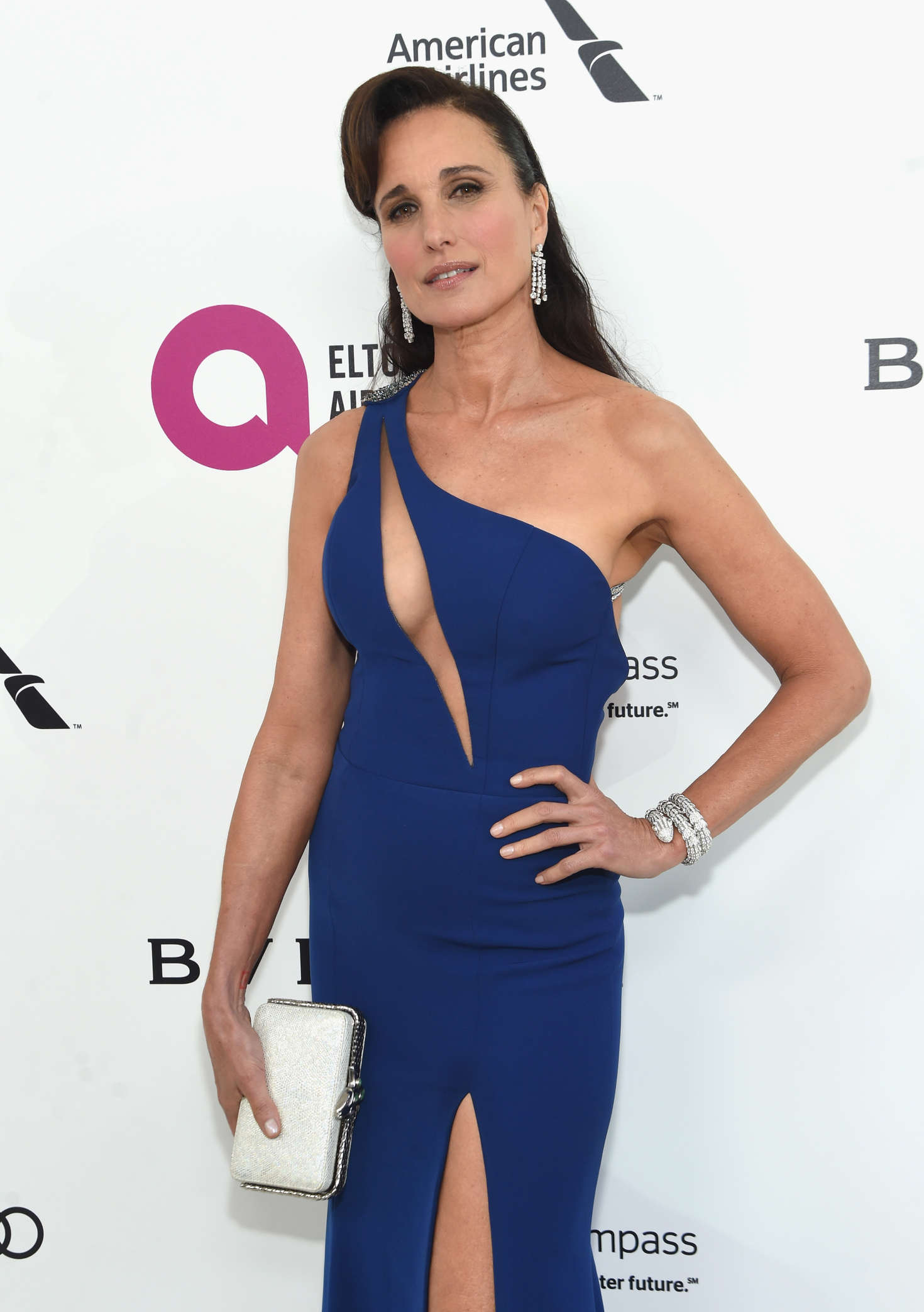 Andie MacDowell Elton John AIDS Foundations Oscar Viewing Party in West Hollywood
