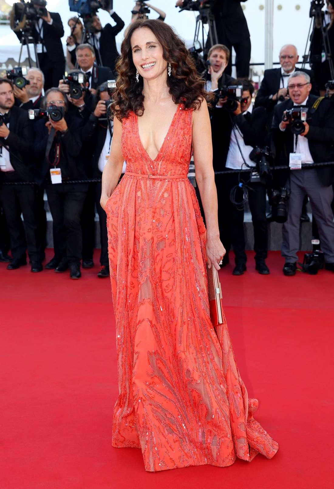 Andie MacDowell Inside Out Premiere in Cannes