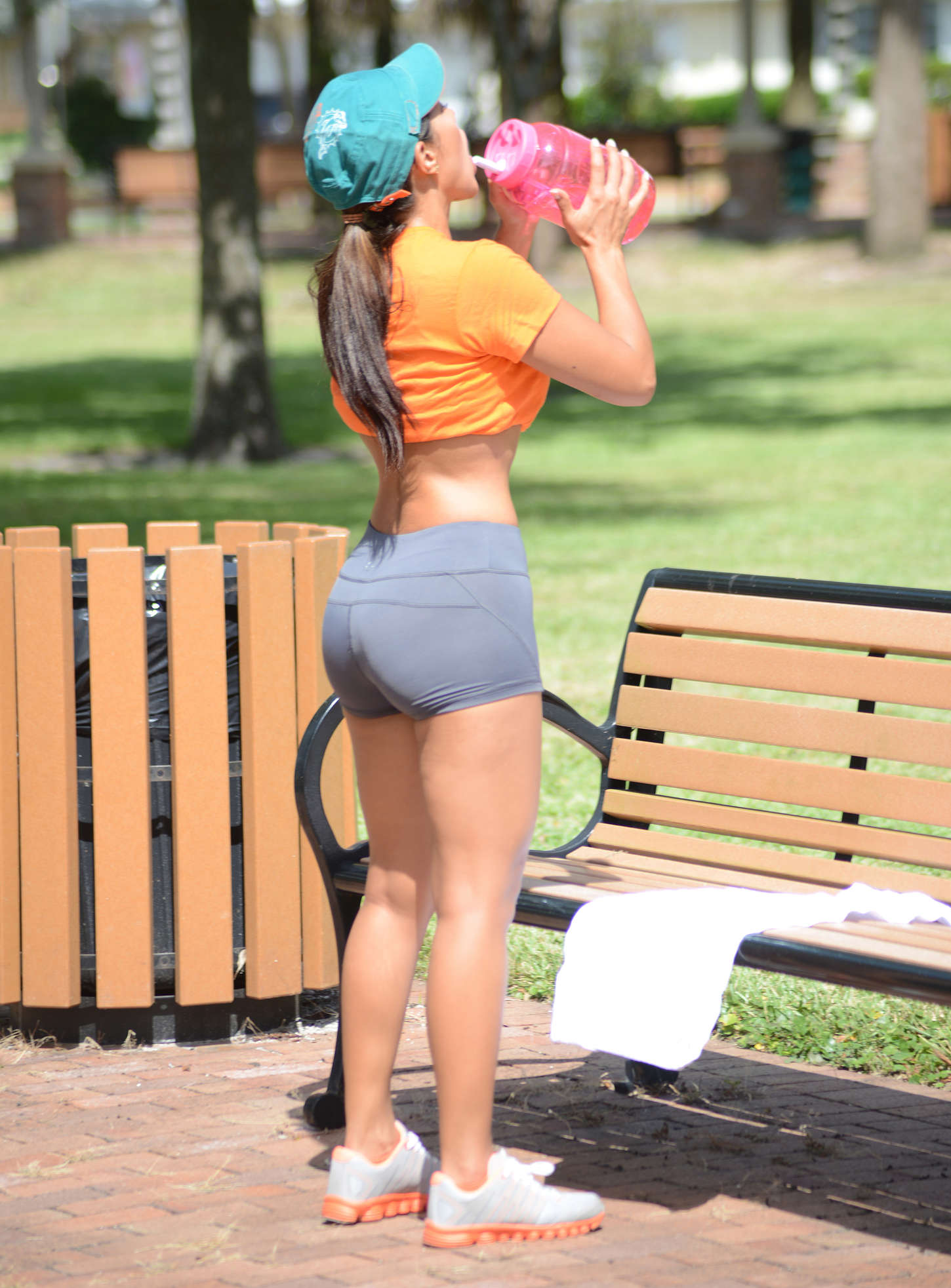 Andrea Calle Working out In Miami