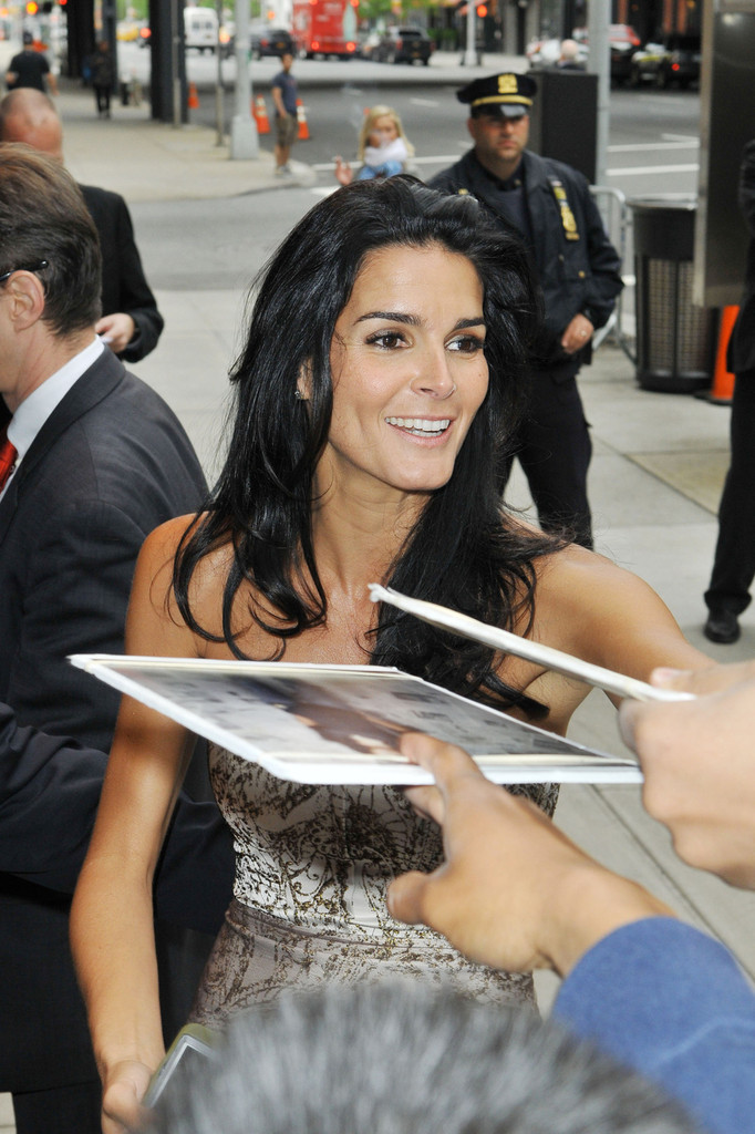 Angie Harmon out in New York