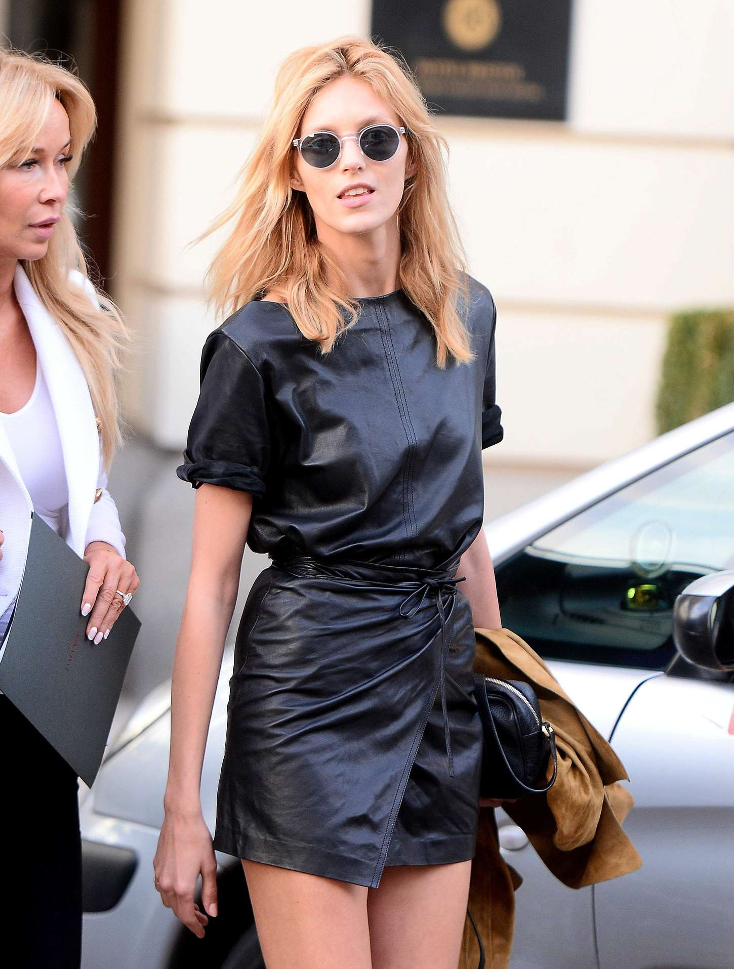 Anja Rubik Leaving her hotel in Warsaw
