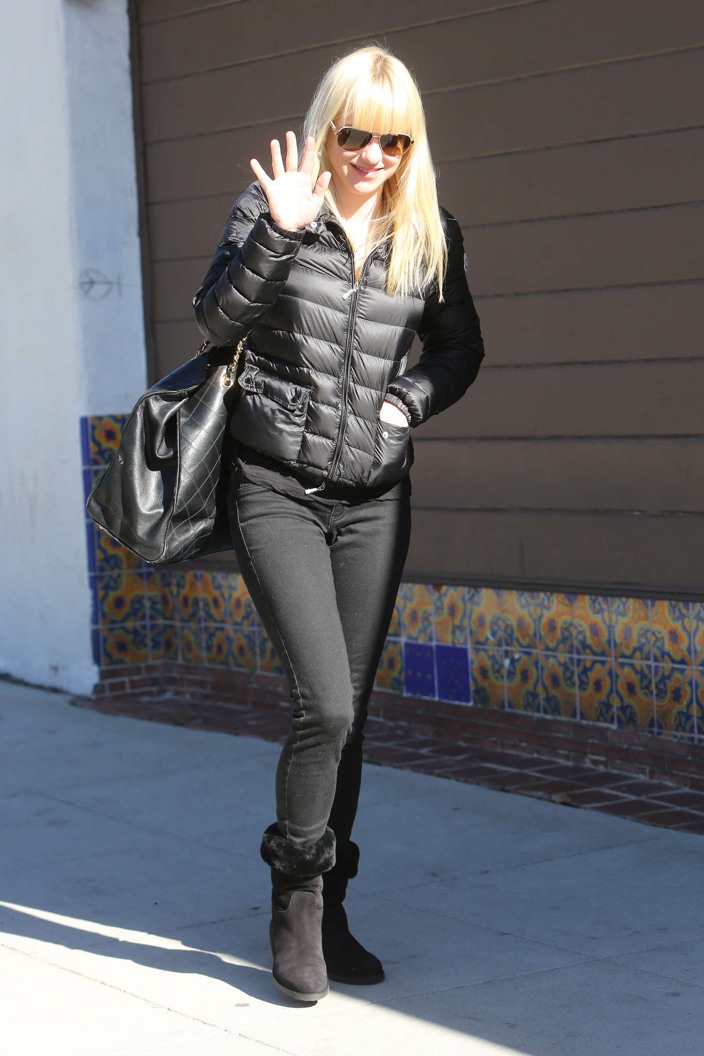 Anna Faris go out in Los Angeles