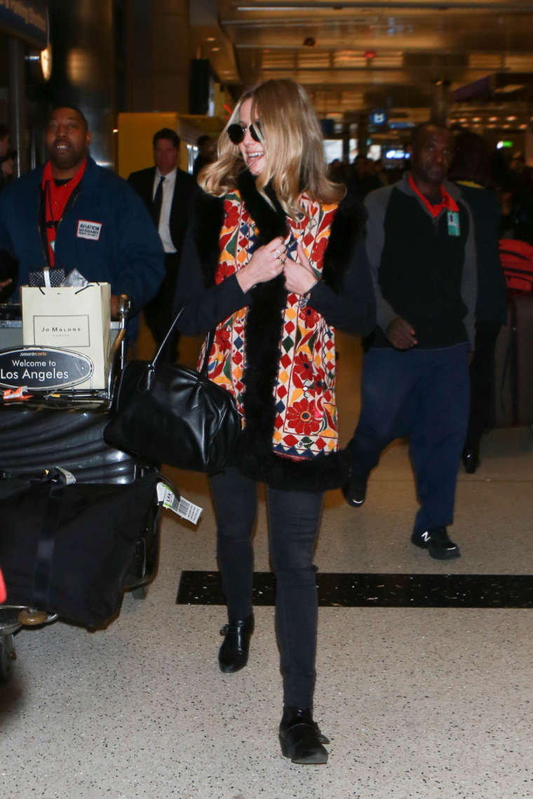 Annabelle Wallis Arrives at LAX Airport in Los Angeles