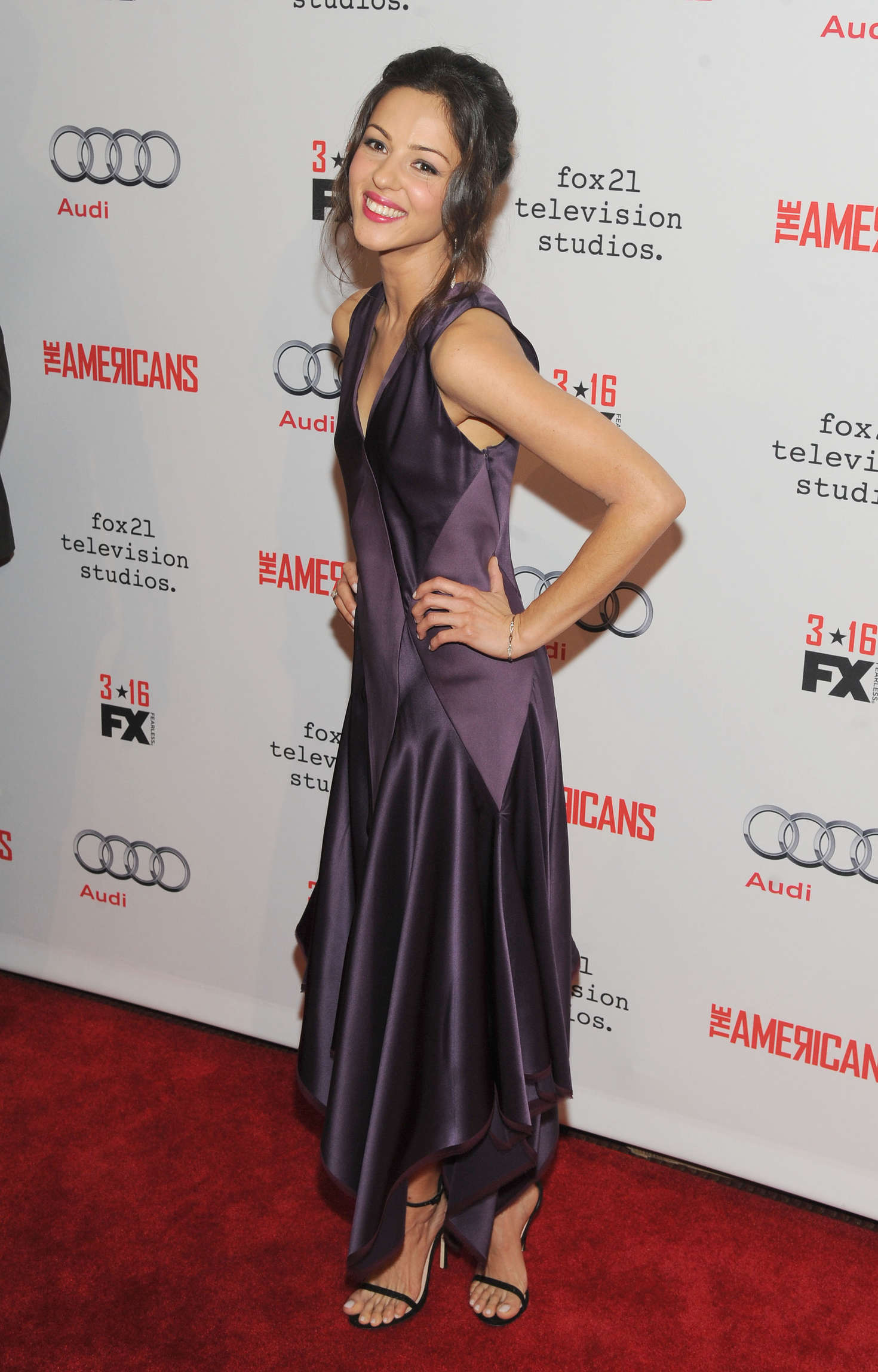 Annet Mahendru The Americans Season Premiere in New York City