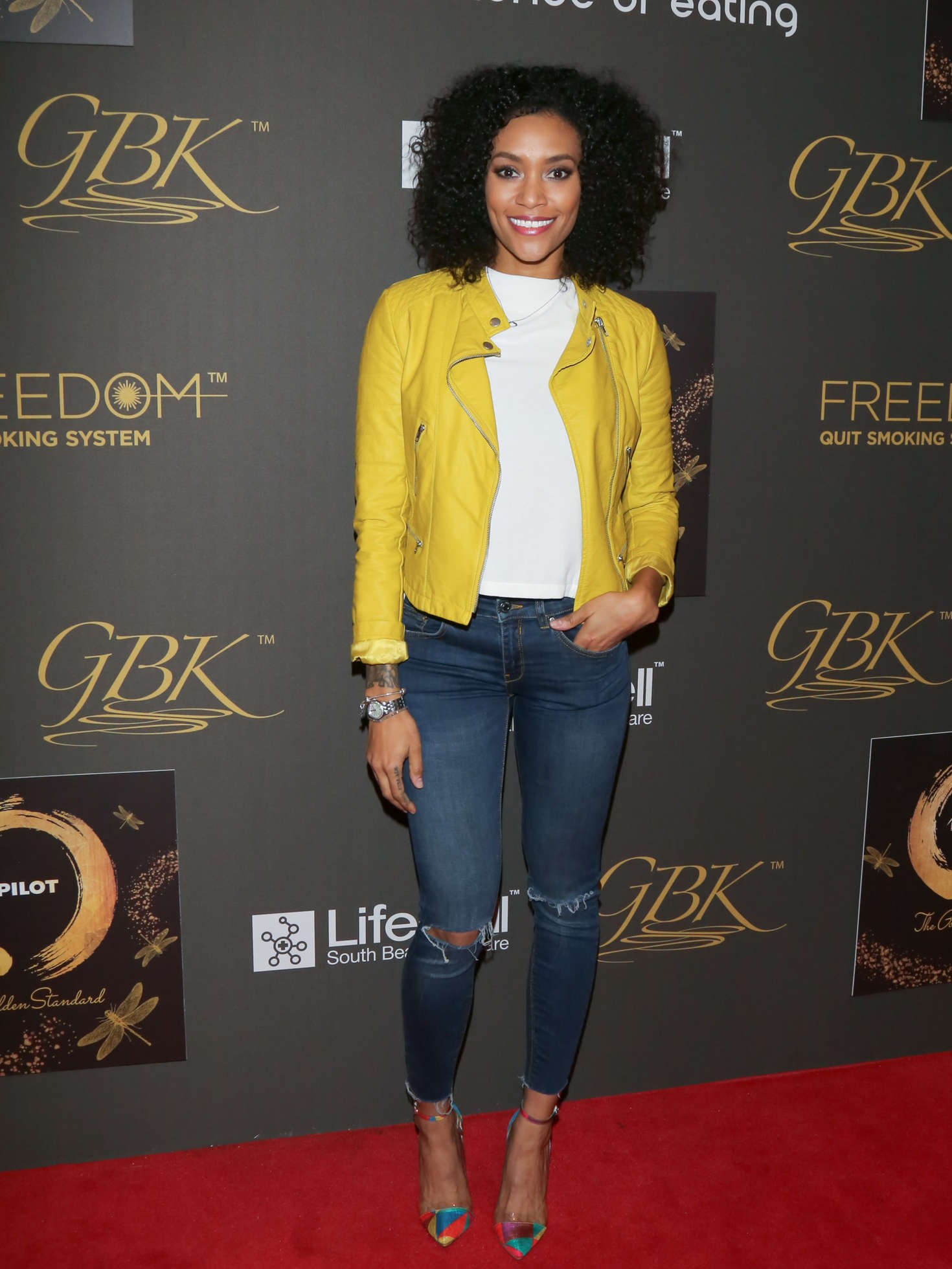 Annie Ilonzeh GBK Pilot Pen Golden Globes Luxury Lounge in Los Angeles