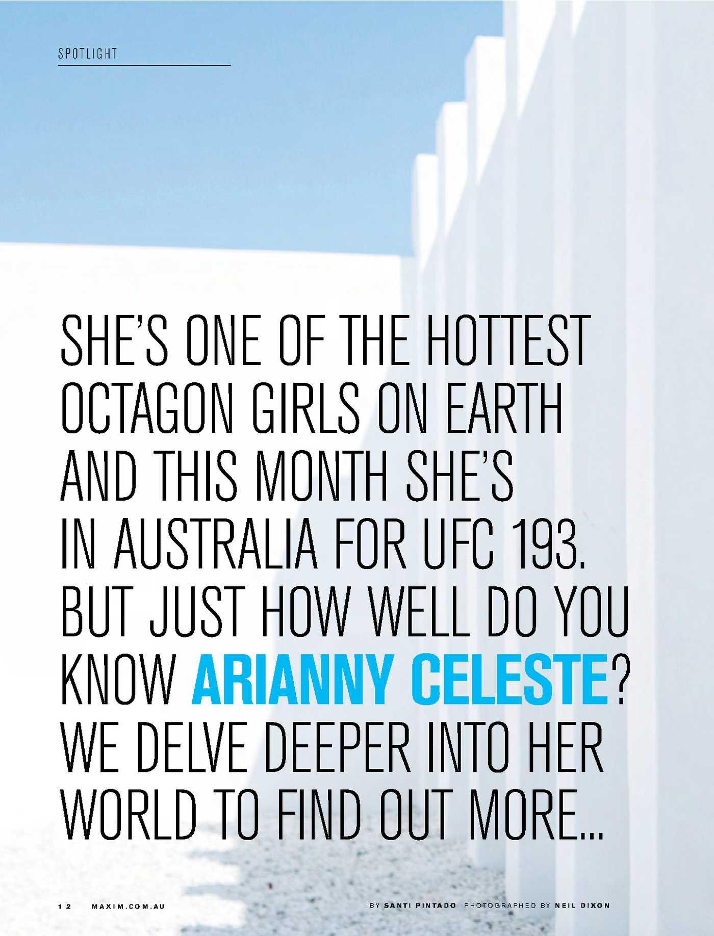 Arianny Celeste Maxim Australia Magazine