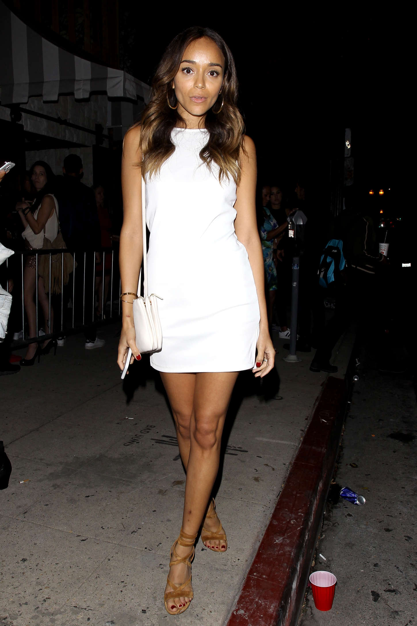 Ashley Madekwe Leaving Le Jardin Nightclub in Hollywood