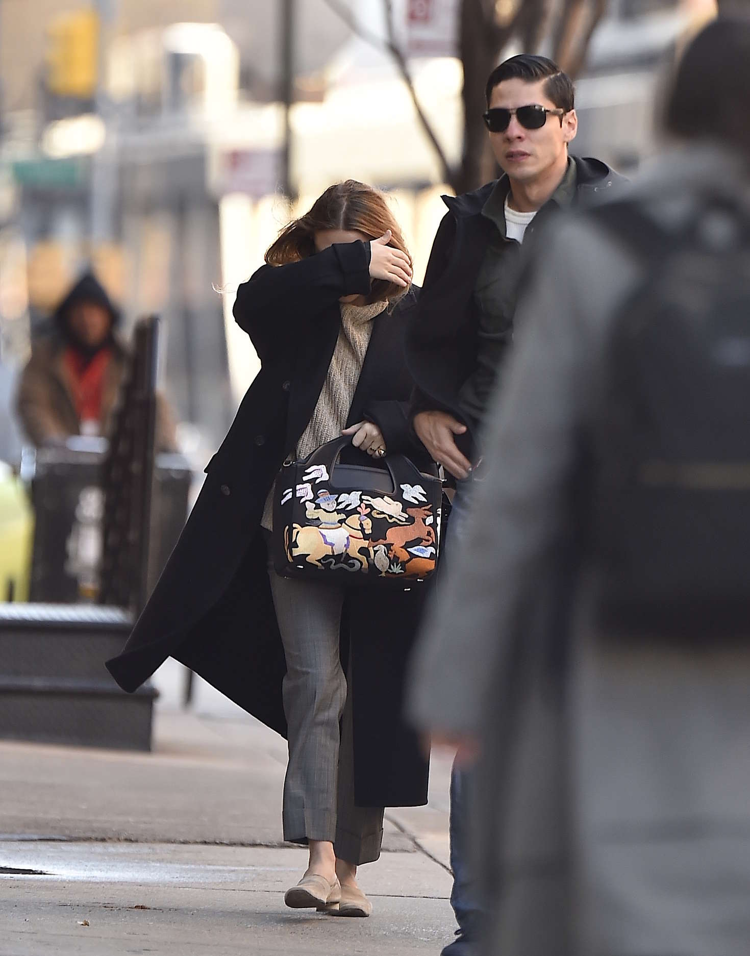 Ashley Olsen in Long Coat out in New York
