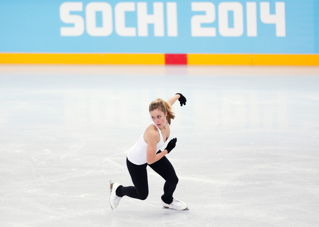 Ashley Wagner Practicing her routine in Sochi
