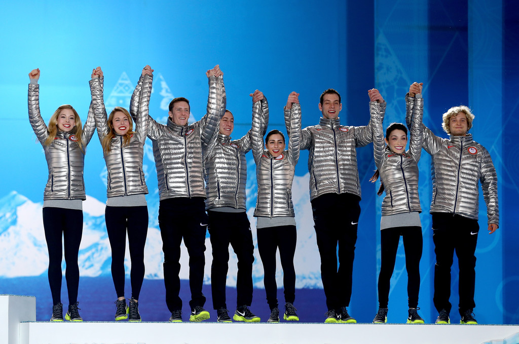 Ashley Wagner Team Figure Skating Overall medal ceremony in Sochi