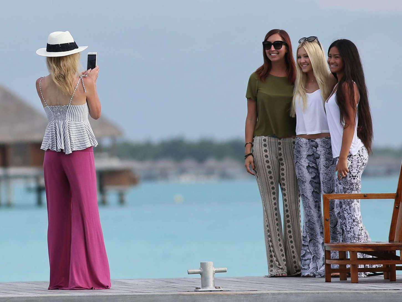 Ava Sambora Wearing Bikini in Bora Bora