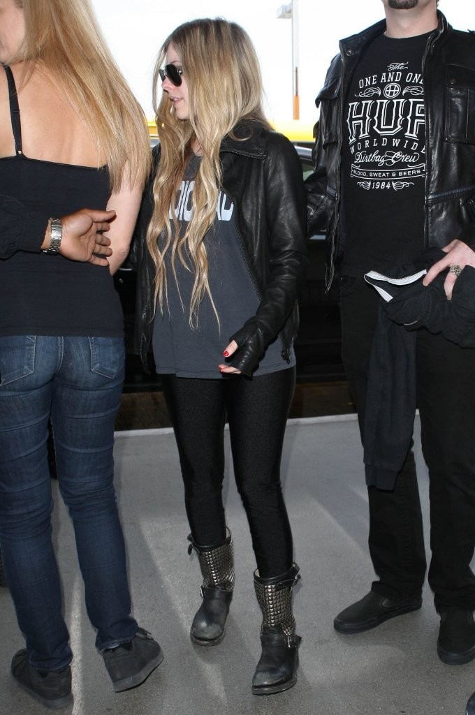 Avril Lavigne at LAX Airport