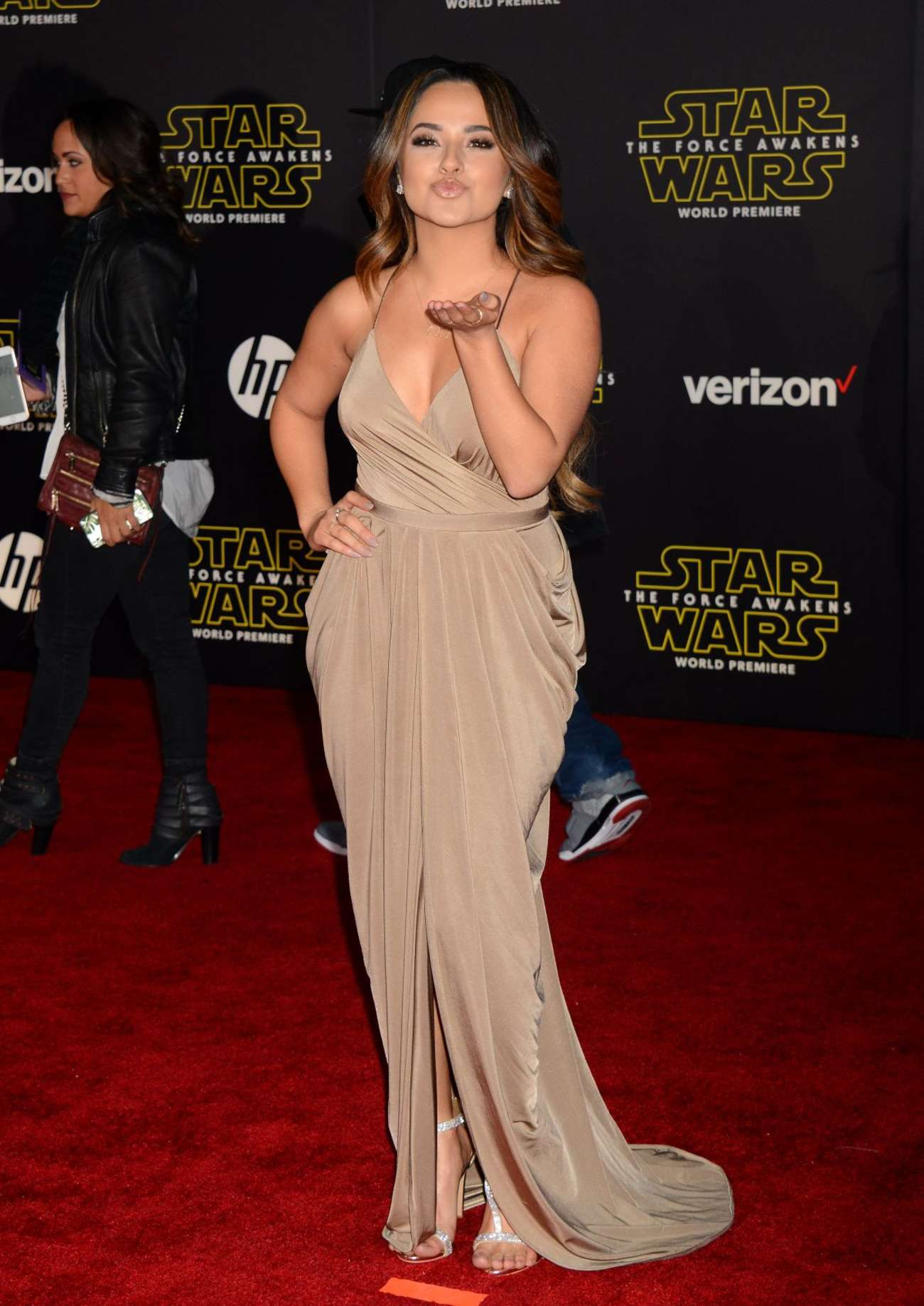 Becky G Star Wars The Force Awakens Premiere in Hollywood