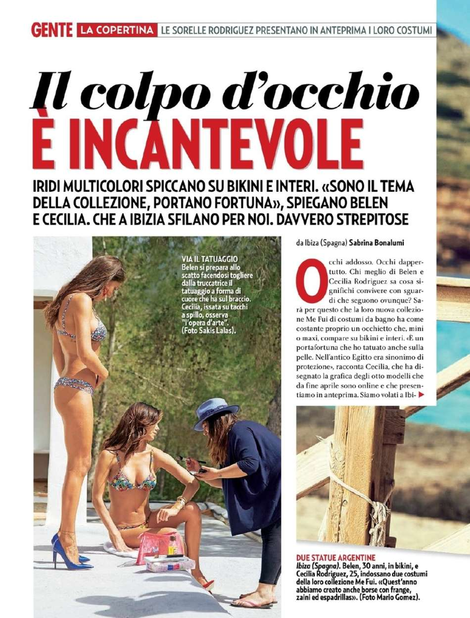 Belen Cecilia Rodriguez Gente Italy Magazine