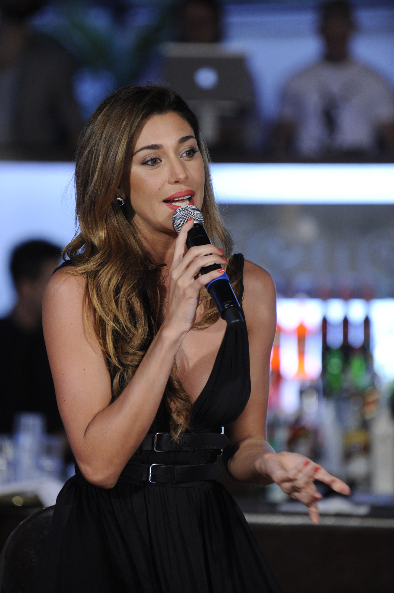 Belen Rodriguez Candids at event for Renault in Milan