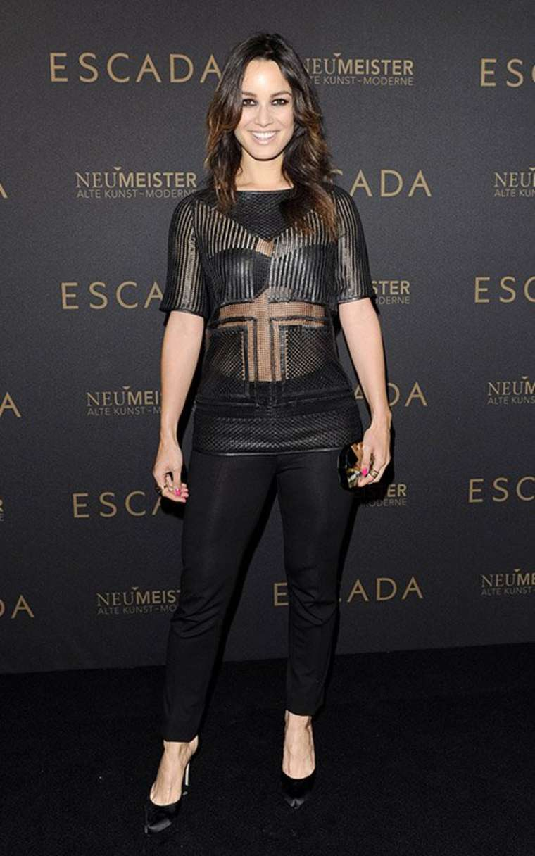 Berenice Marlohe at the grand opening of the Escada flagship store in Berlin