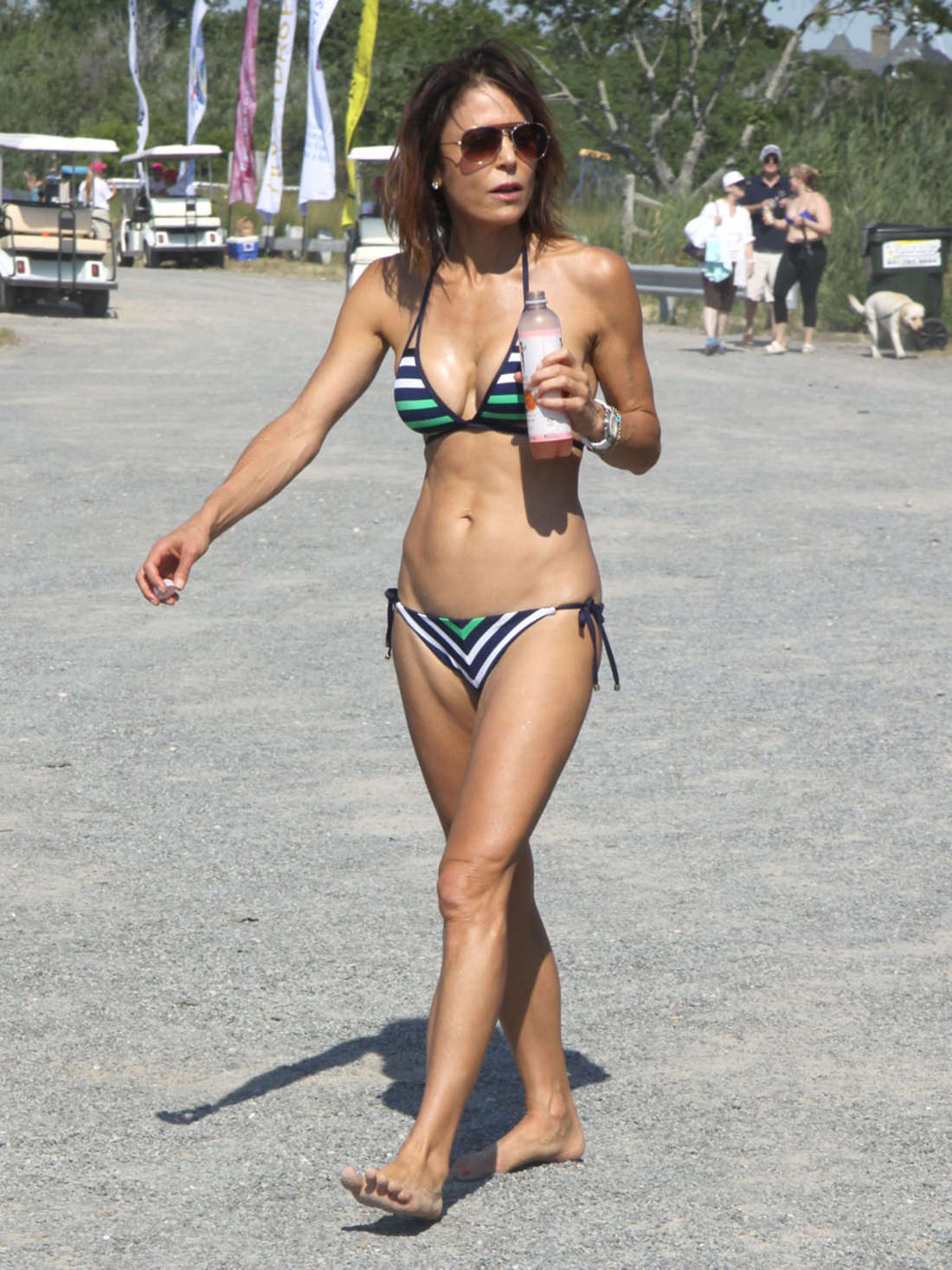 Bethenny Frankel Wearing Bikini at Paddle For Pink Event in Sag Harbor
