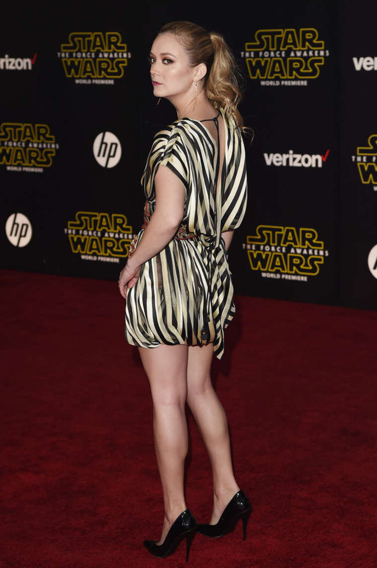Billie Lourd Star Wars The Force Awakens Premiere in Hollywood