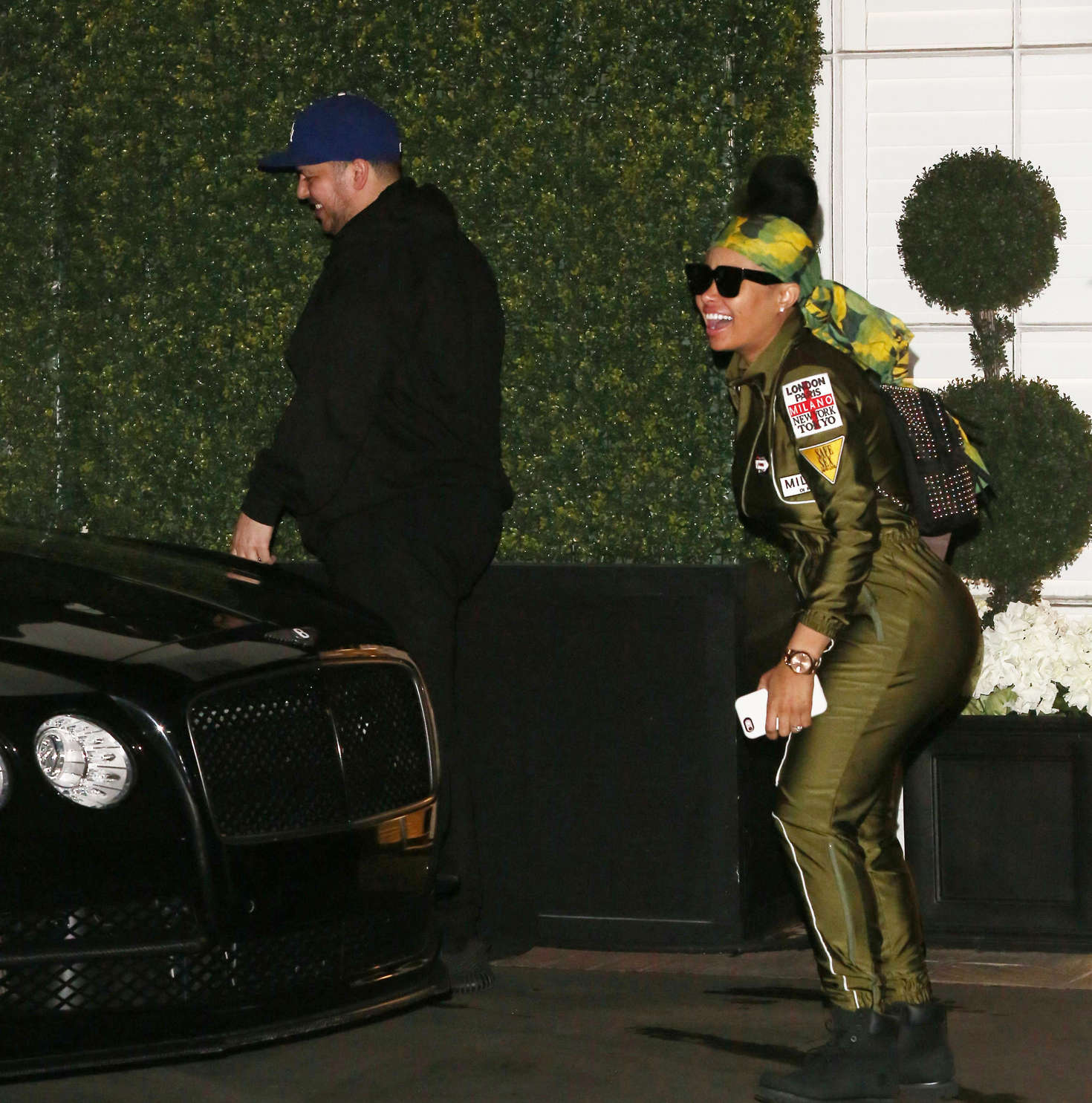 Blac Chyna in Green Bodysuit out in Hollywood