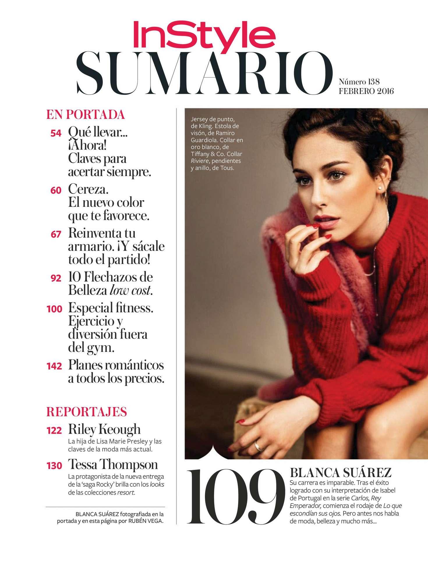 Blanca Suarez InStyle Spain Magazine