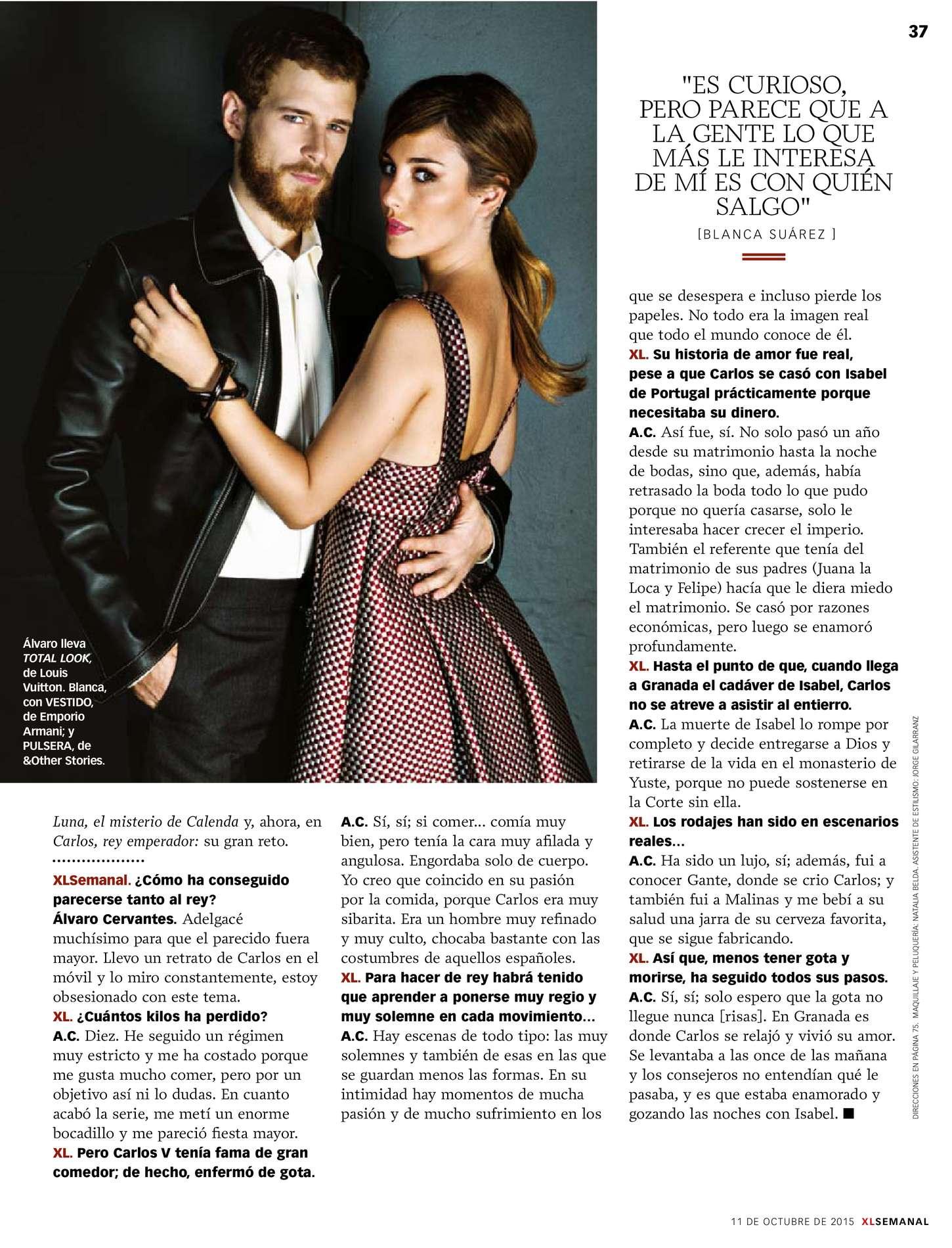 Blanca Suarez Xl Semanal Spain Magazine