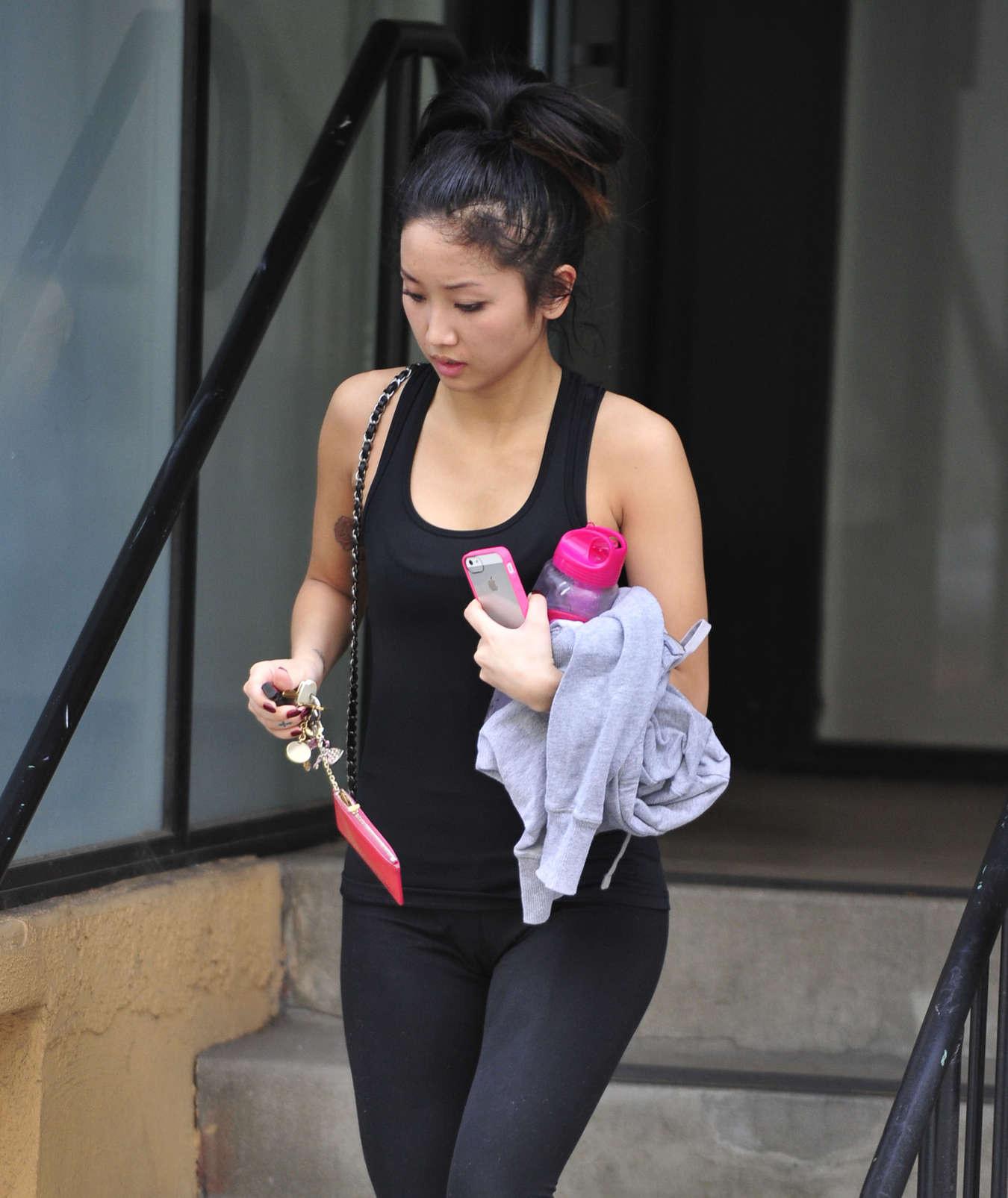 Brenda Song In Tights leaves the gym