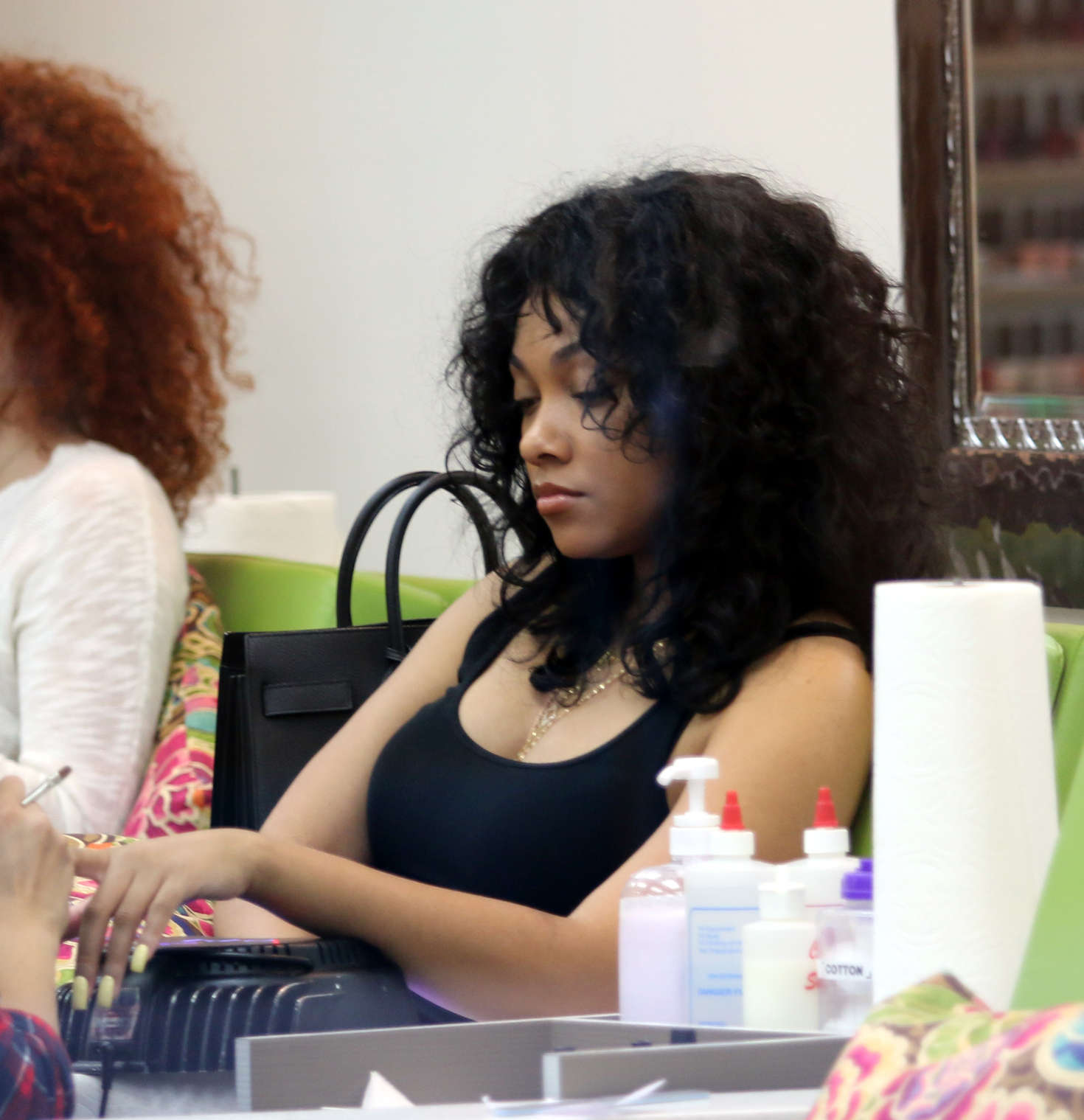 Bria Murphy at a nail salon in Beverly Hills