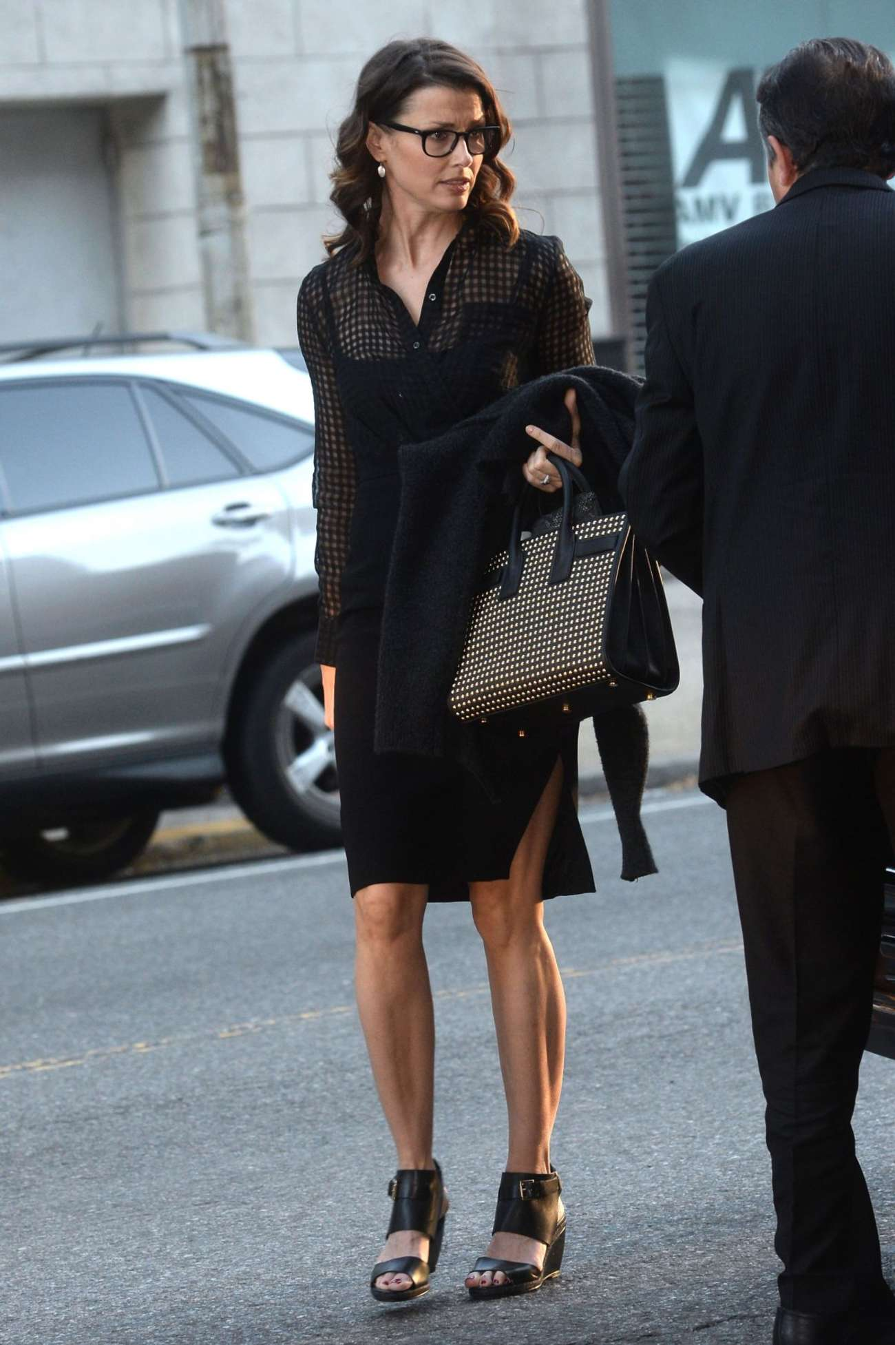 Bridget Moynahan Arrives This Morning Show in New York