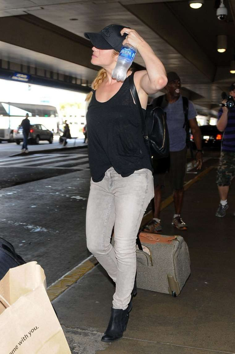 Brittany Snow at LAX in Los Angeles