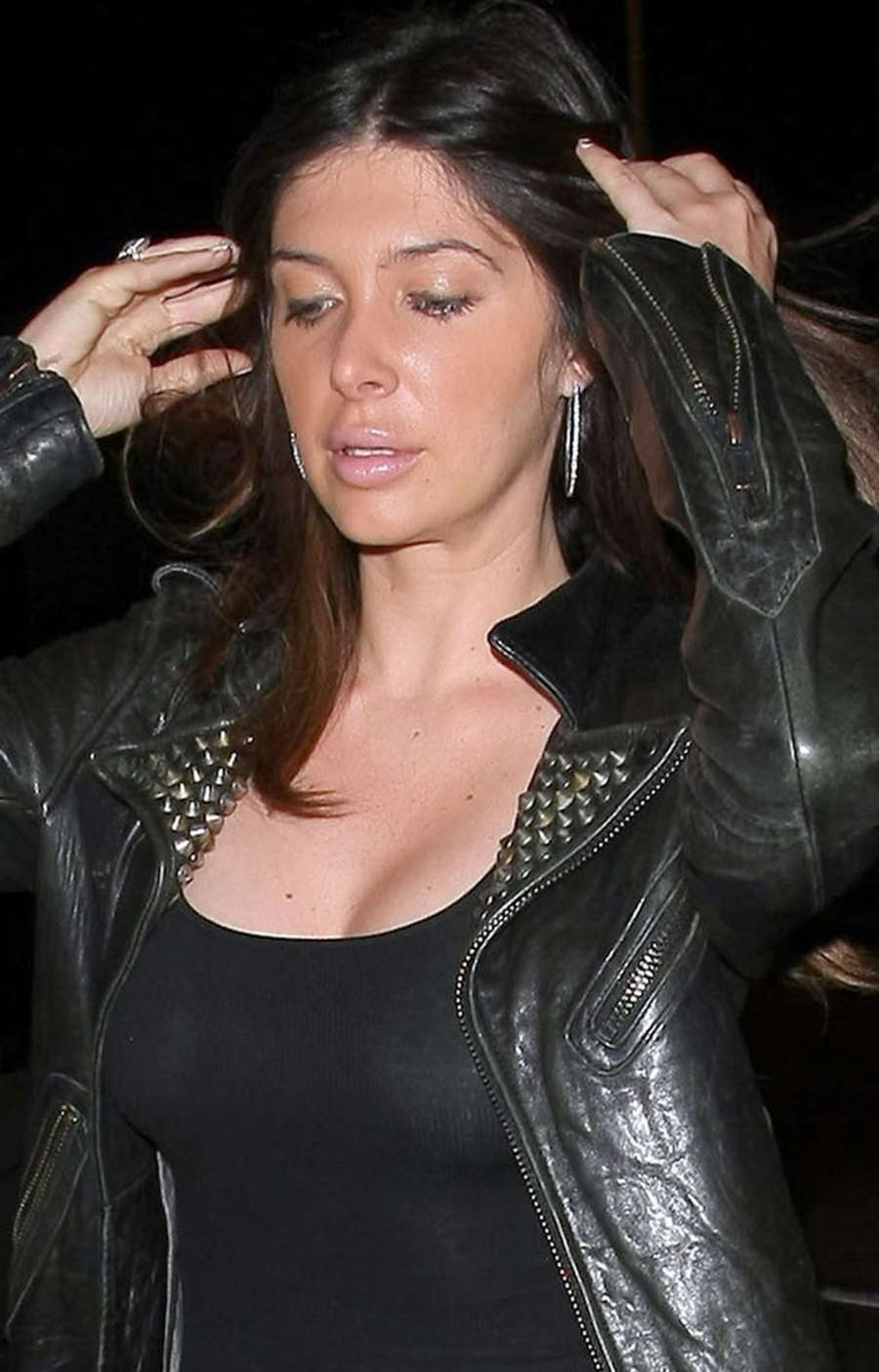 Brittny Gastineau Arriving at Craigs Restaurant in West Hollywood