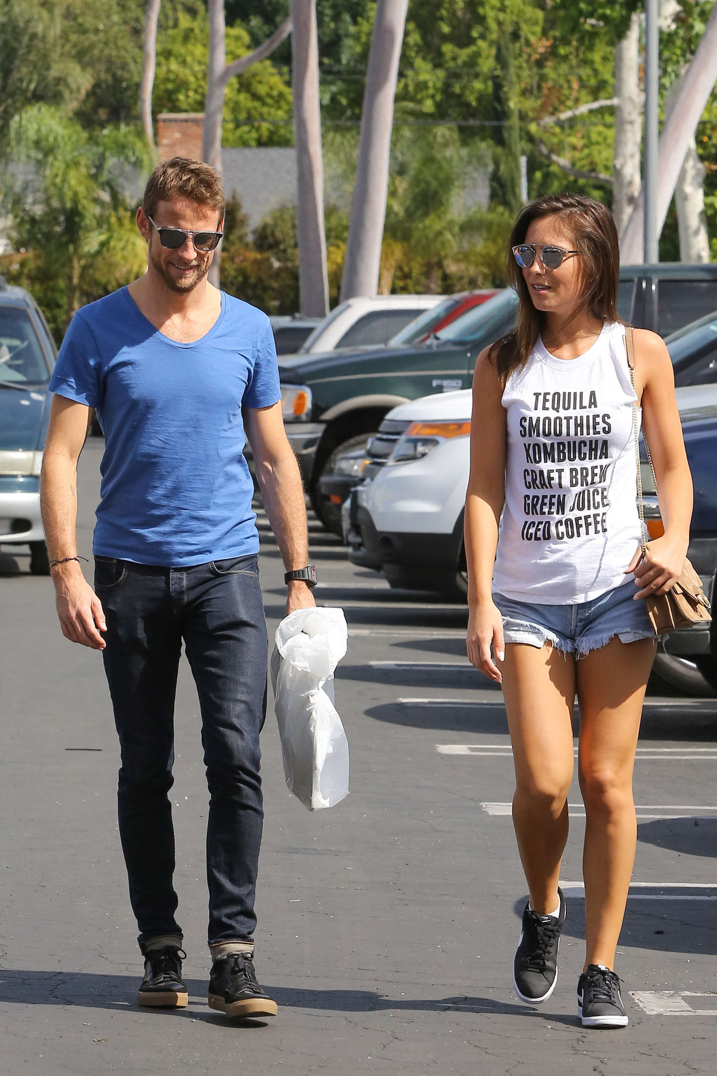 Brittny Ward and Jenson Button Shopping together in Sherman Oaks