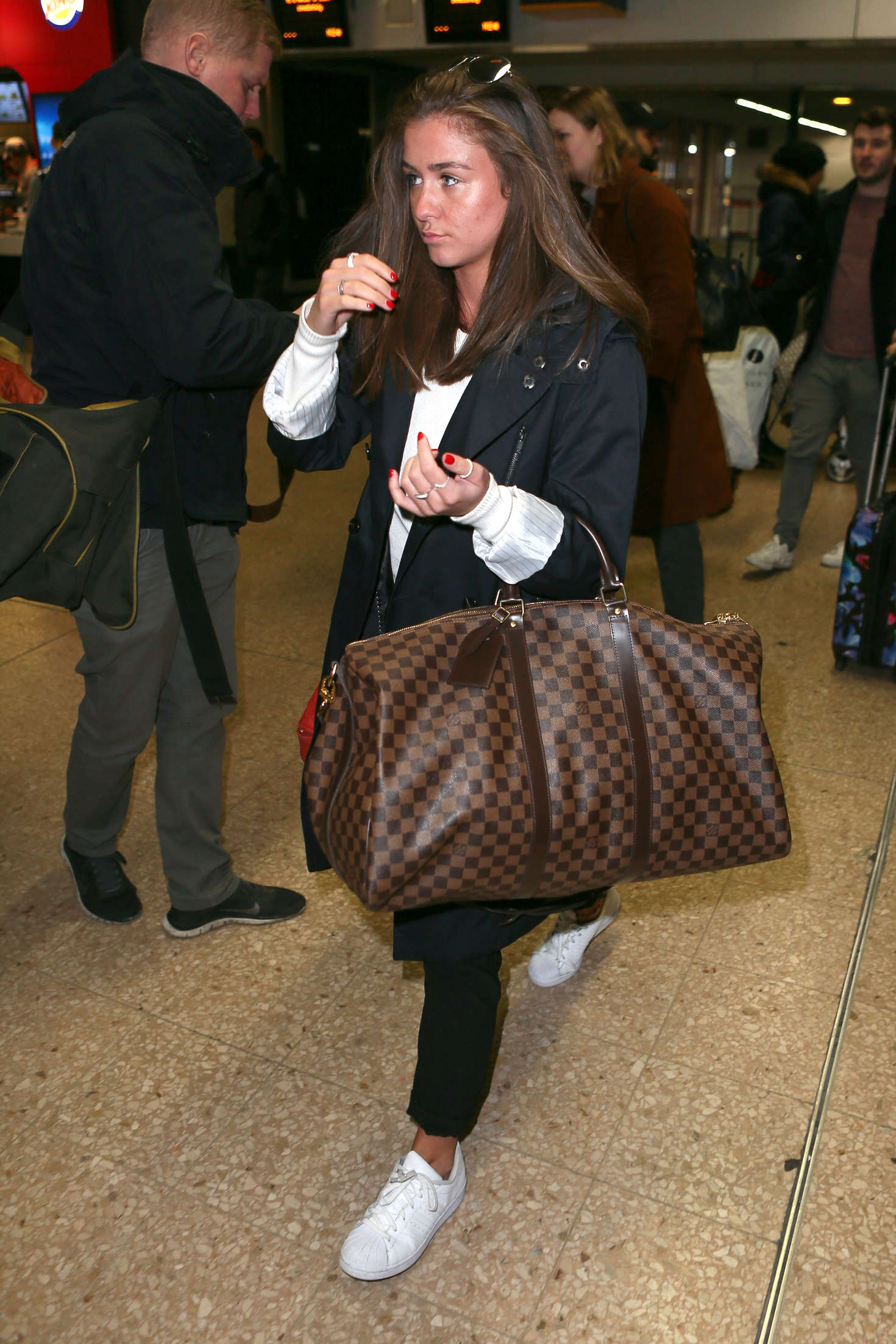 Brooke Vincent Arrives at Euston Station in London