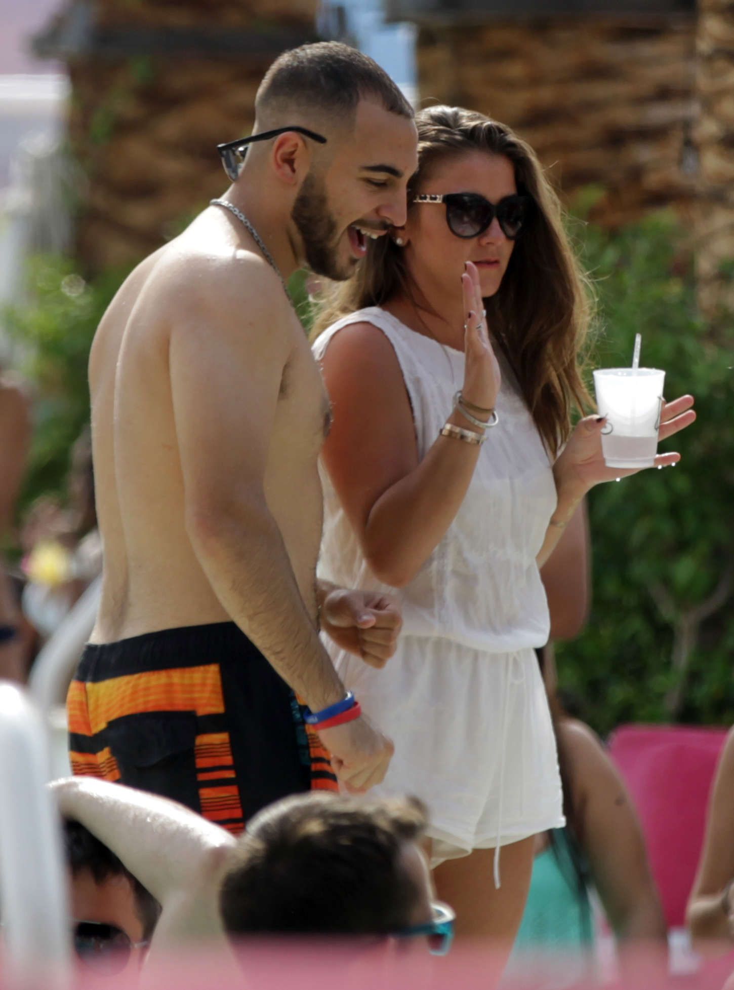 Brooke Vincent Drais Pool Party in Las Vegas