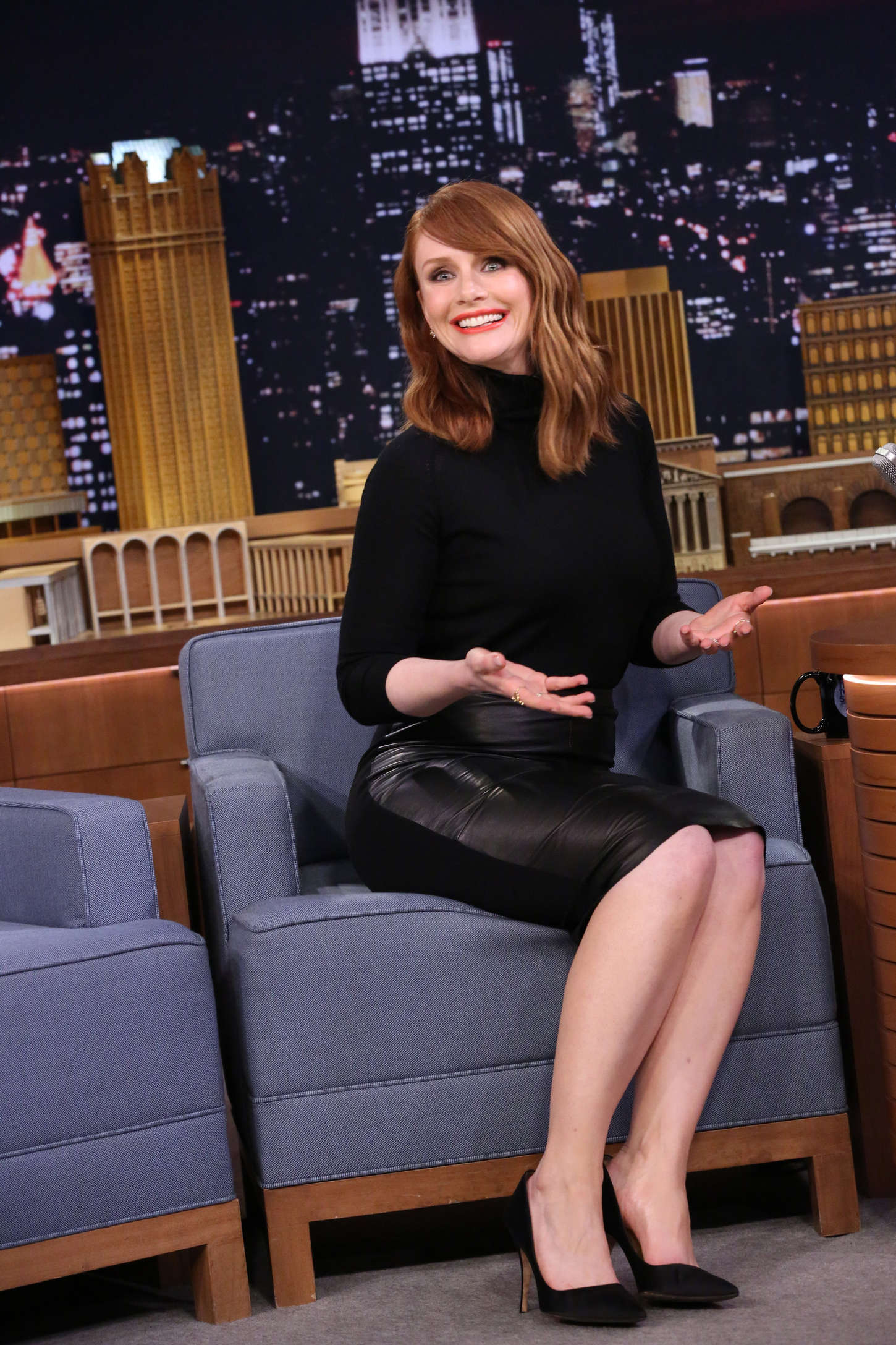 Bryce Dallas Howard The Tonight Show Starring Jimmy Fallon in New York