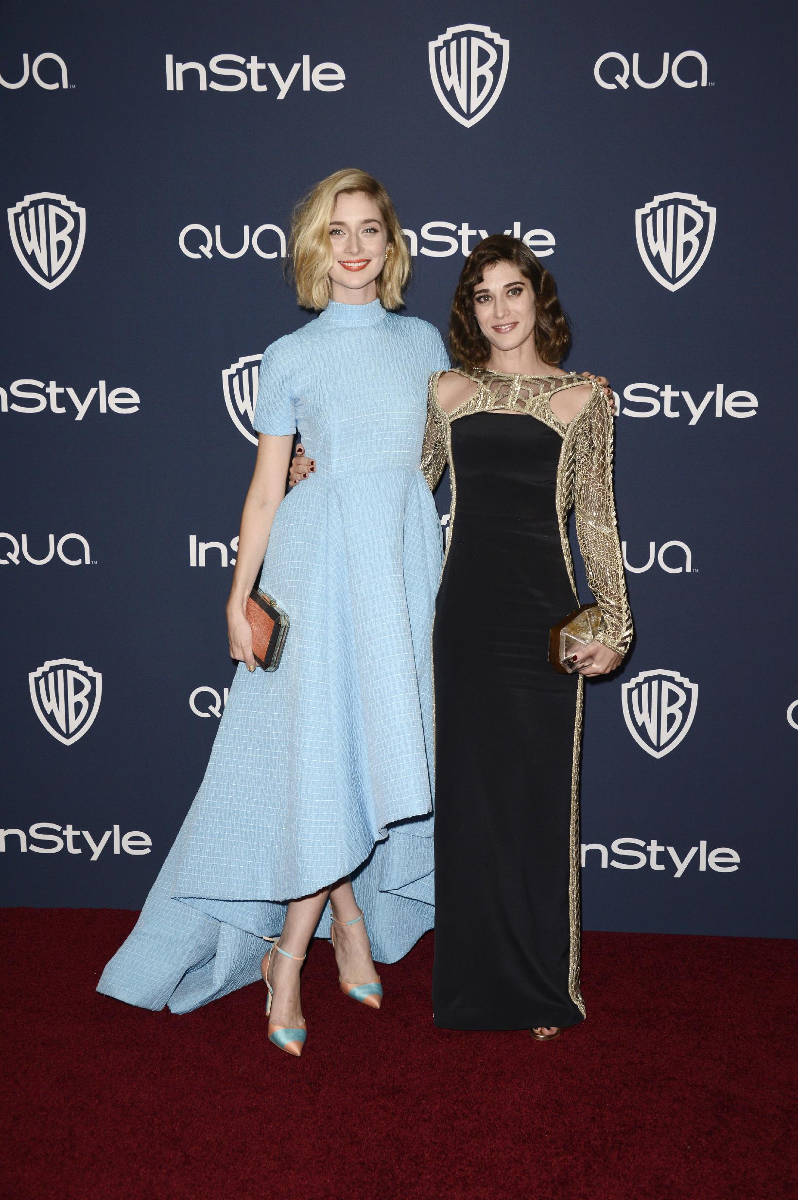 Caitlin Fitzgerald InStyle Warner Bros Golden Globes after party