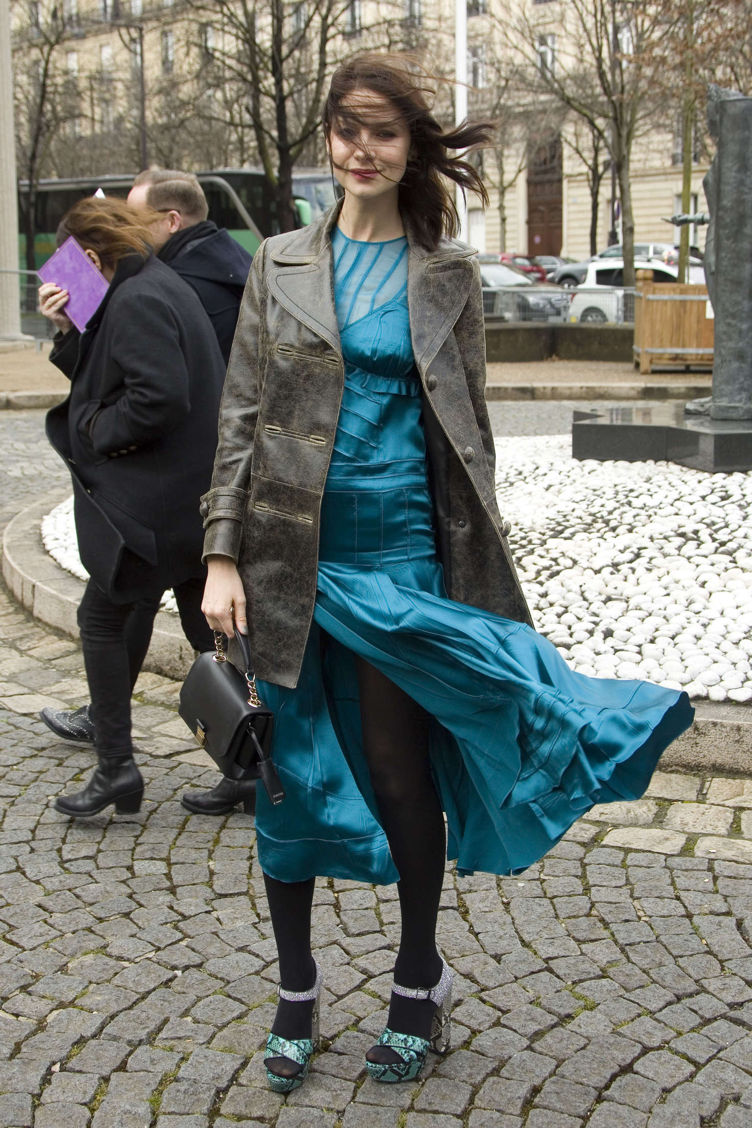 Caitriona Balfe Arrives at Miu Miu Fashion Show in Paris
