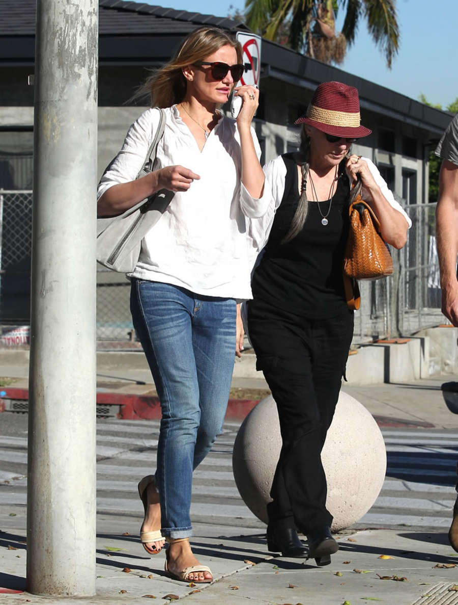 Cameron Diaz Leaving Gracias Madre in West Hollywood