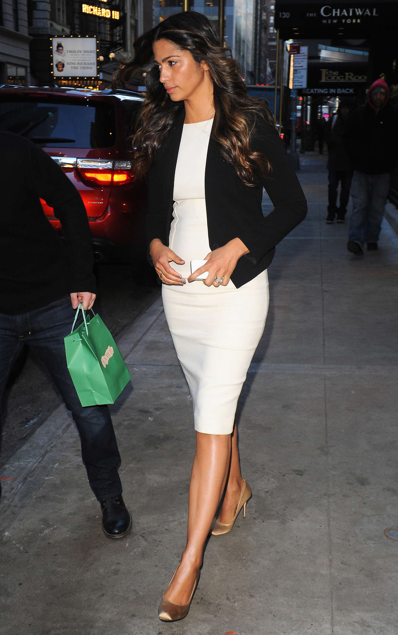 Camila Alves Seen at The Lamb Club restaurant in New York