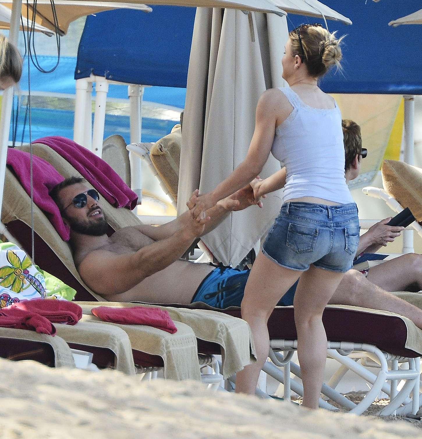 Camilla Kerslake Wearing Bikini in Barbados
