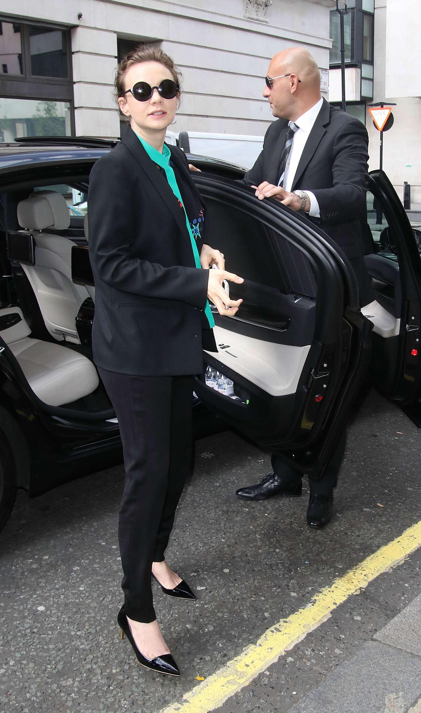 Carey Mulligan Arriving at the BBC Radio Studios in London