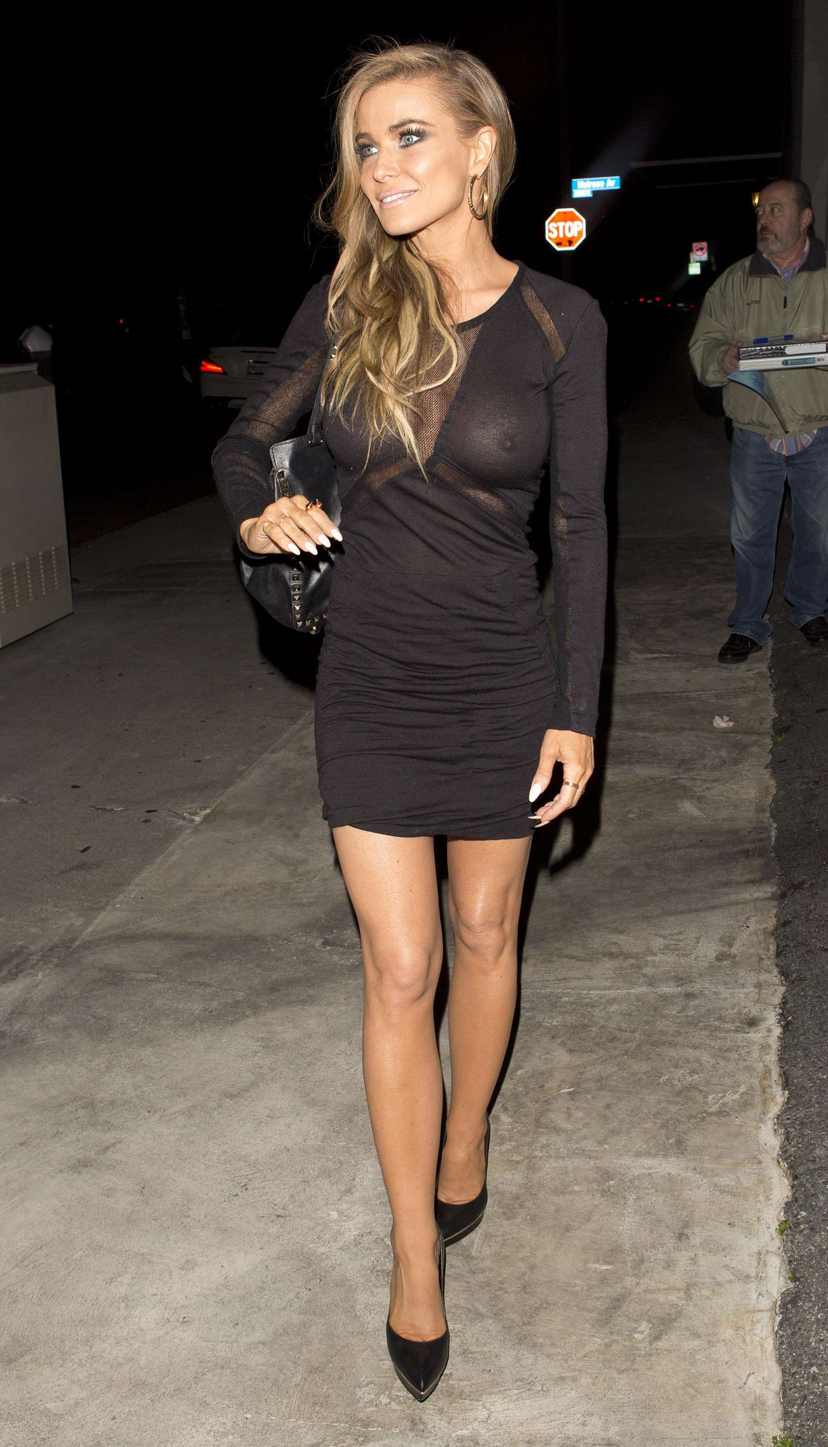 Carmen Electra leaving Crossroads