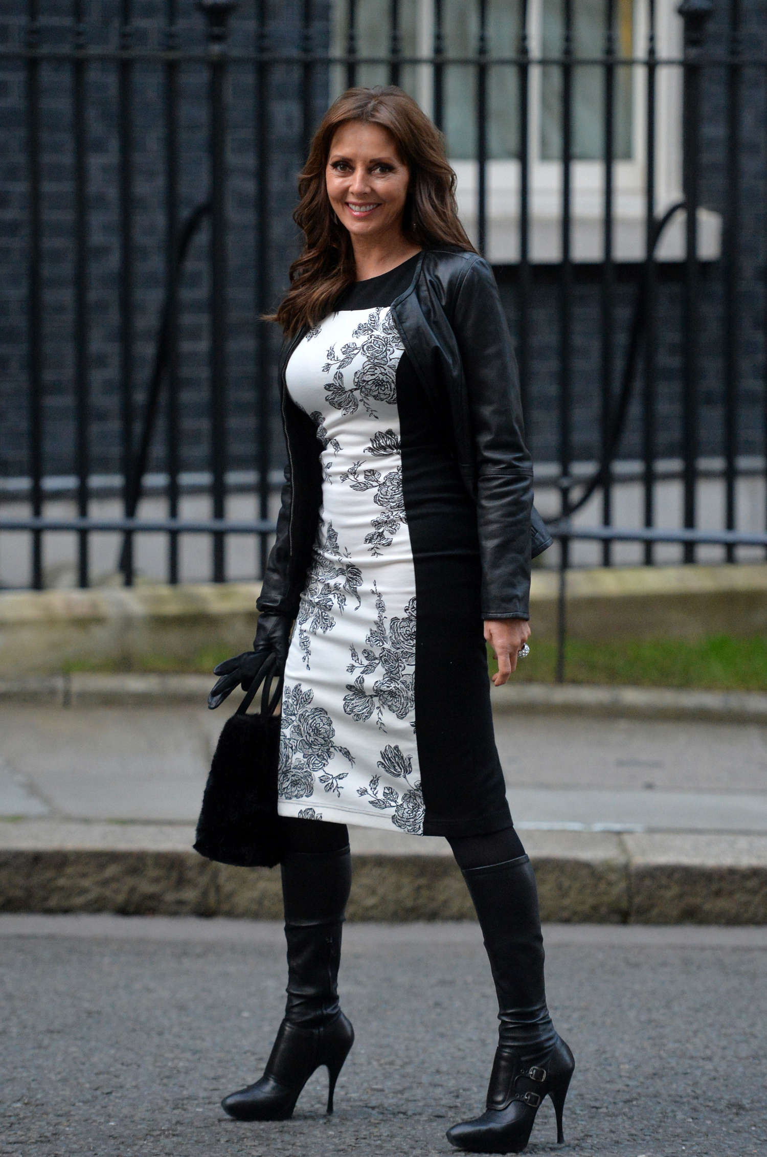 Carol Vorderman Downing Street in London