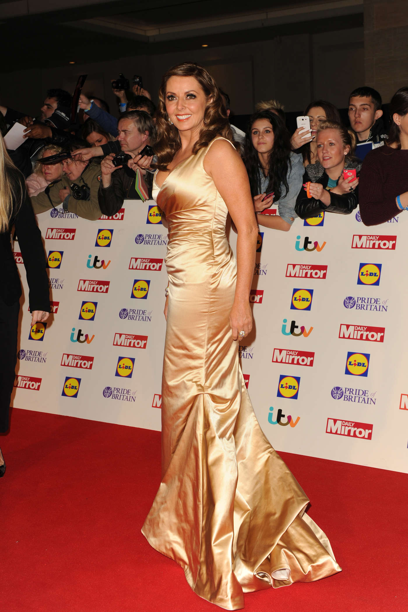Carol Vorderman Pride of Britain Awards in London