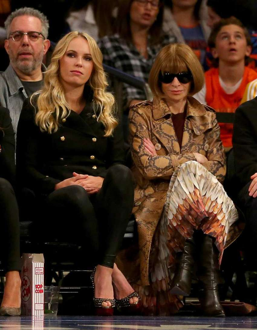 Caroline Wozniacki NBA Game at Madison Square Garden in New York