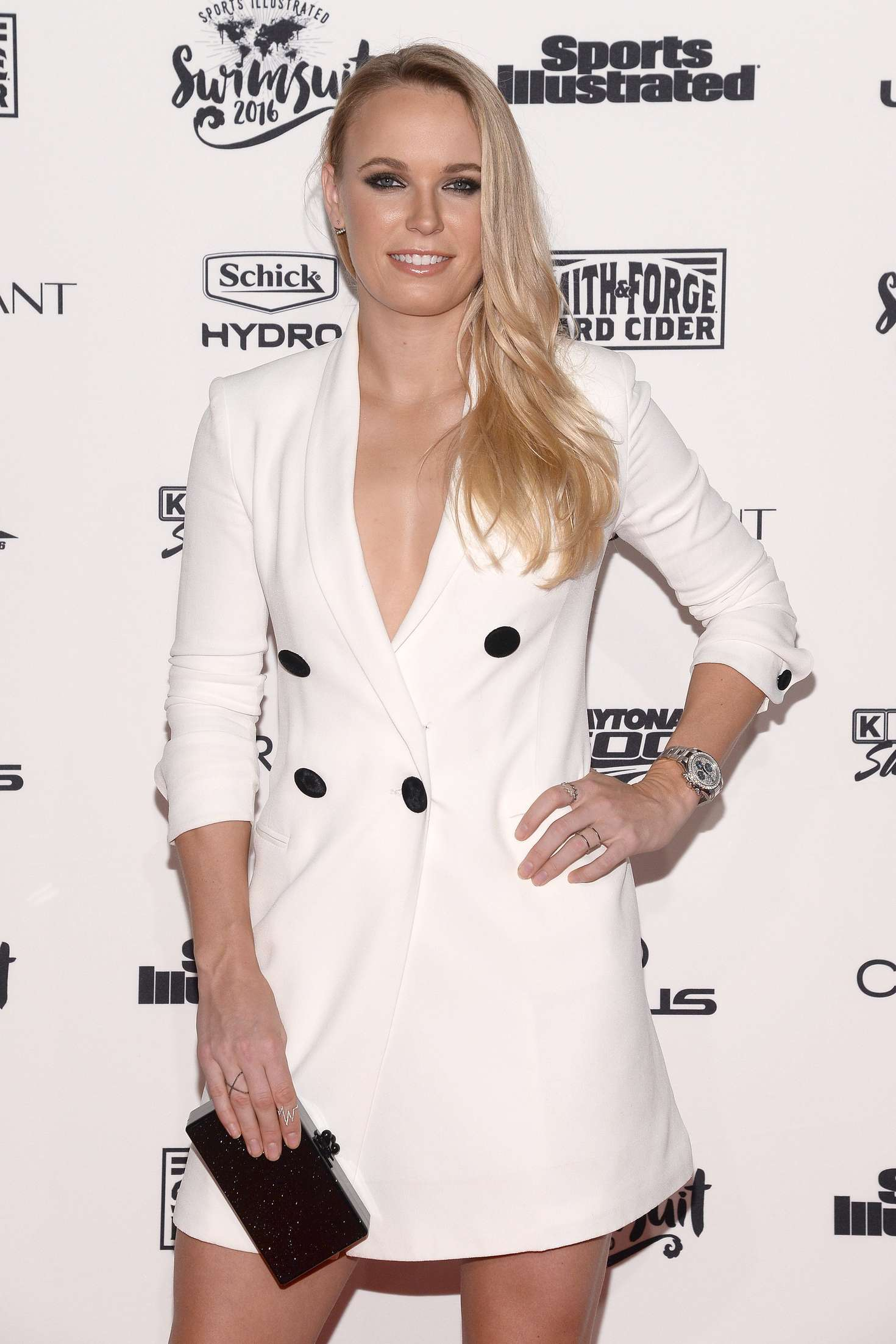 Caroline Wozniacki Sports Illustrated Celebrates Swimsuit VIP Red Carpet Event in New York